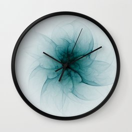 Dark Flower Fractal Wall Clock