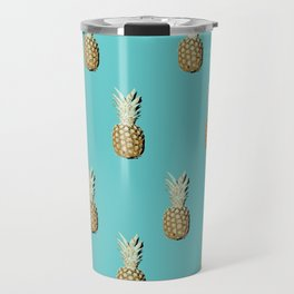 Pop art pineapples all over print Travel Mug