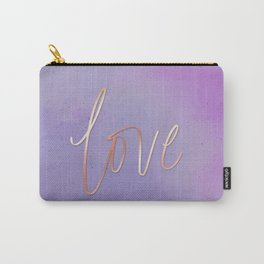 Love in the Clouds - Purple Carry-All Pouch