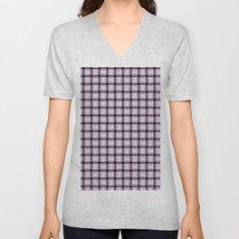 Small Pastel Violet Weave Unisex V-Neck
