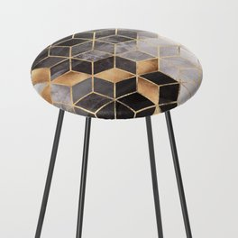 Smoky Cubes Counter Stool