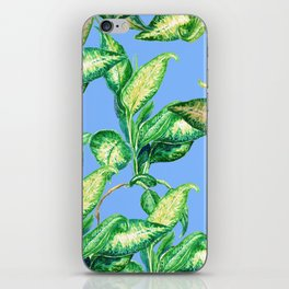 blue blue blue and green iPhone Skin