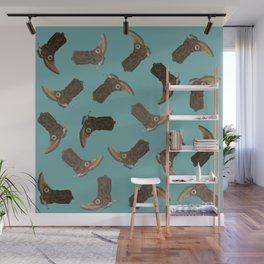 Cowboy Boots - pattern Wall Mural