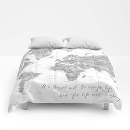 World Map Comforters | Society6