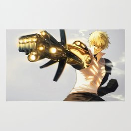 One Punch Man Genos Rug