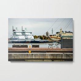 Helsinki Harbor Metal Print