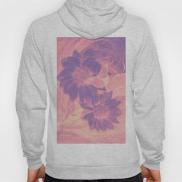 Ghost butterflies in an abstract purple and pink landscape Hoody