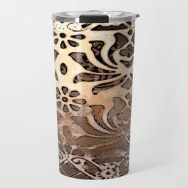 Patterned Metal Grid Travel Mug
