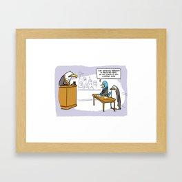 Flight Risk Framed Art Print