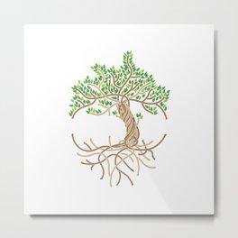 Rope Tree of Life. Rope Dojo 2017 white background Metal Print