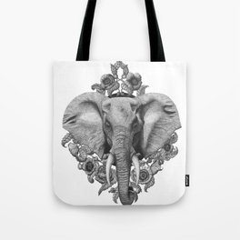Elephant & Poppies  Tote Bag