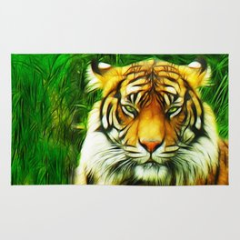 Tiger is Not Amused Rug
