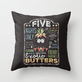 Exotic Butters Throw Pillow