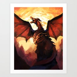 COPPER WYVERN Art Print