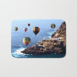 Flying Colorful Hot air Balloons over Newfoundland Bath Mat