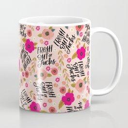 Pretty Sweary: Fresh out of Fucks- Pink Coffee Mug