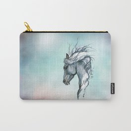 Aqua horse Carry-All Pouch