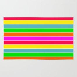Neon Hawaiian Rainbow Horizontal Deck Chair Stripes Rug