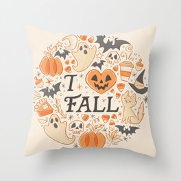 I Love Fall Throw Pillow