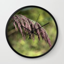 Summer Grass Wall Clock