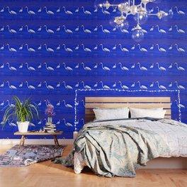 ROYAL BLUE GARZA BIRD Wallpaper