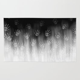 Terror White Hands Rug