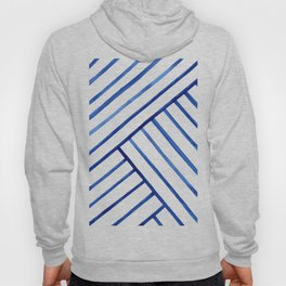 Watercolor lines pattern | Navy blue Hoody