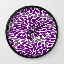 Purple drops Wall Clock