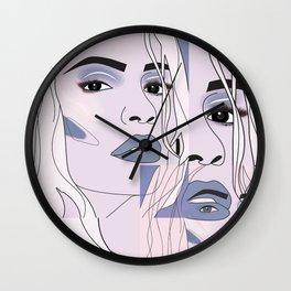 lip filler collage Wall Clock