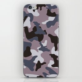 Gray army camo camouflage pattern iPhone Skin