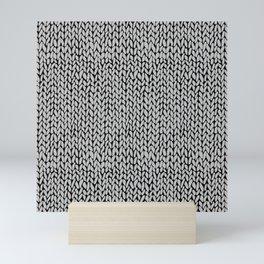 Hand Knit Grey Black Mini Art Print
