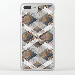 Geometric Collage Clear iPhone Case