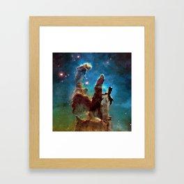 Eagle Nebula's Pillars Framed Art Print