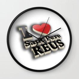 I Love Sant Pere de Reus Wall Clock