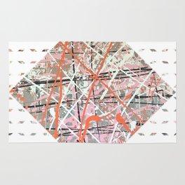Flight of Color - diamond graphic Rug
