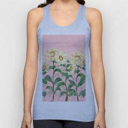 Sunflowers in Pink Unisex Tank Top