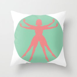 The Earthian woman Throw Pillow