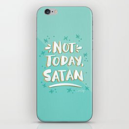 Not Today, Satan – Mint & Gold Palette iPhone Skin
