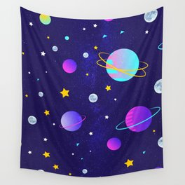 Stars,moons and planets Wall Tapestry