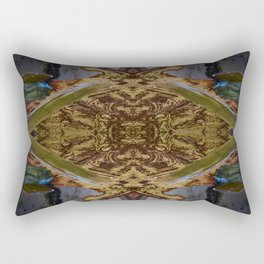 Green/Gold Ceiling Tile (Abstract) Rectangular Pillow