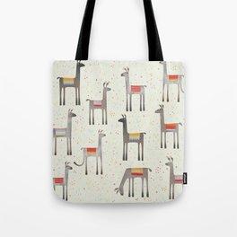 Llamas in the Meadow Tote Bag