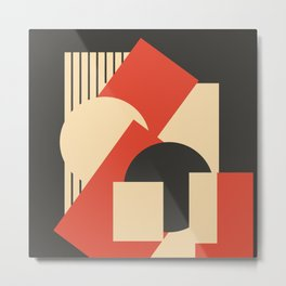 Geometrical abstract art deco mash-up Metal Print
