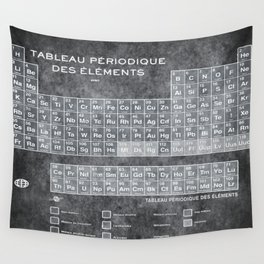 Periodic table wall tapestries society6 tableau periodiques periodic table of the elements vintage chart silver wall tapestry urtaz Gallery
