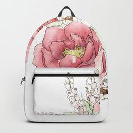 Watercolor Flowers - Garden Roses Backpack
