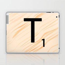 Scrabble Letter T - Large Scrabble Tiles Laptop & iPad Skin