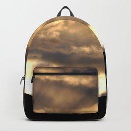 SUNSET THRU THE HEAVY RAIN CLOUDS Backpack