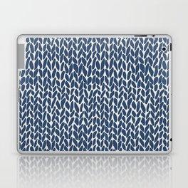 Hand Knit Navy Laptop & iPad Skin