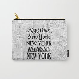 New York City black and white New York poster I love heart NYC Design black-white home wall decor Carry-All Pouch