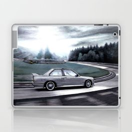 M3 CAR RIDING THROUGH THE FAMOUS NURBURGRING RACE TRACK AT DAY Laptop & iPad Skin