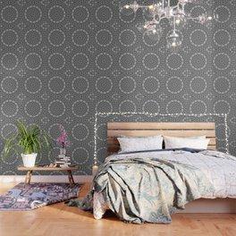 Shades of Grey and Black Mandala Kaleidoscope A128B Wallpaper